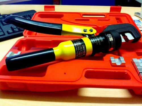 70mm 8 Ton Force Hydraulic Crimper Cable Wire Crimping Tool Kit - Click Image to Close